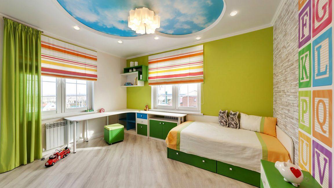 Çocuk odasında çeşitli seviyelerde ışık