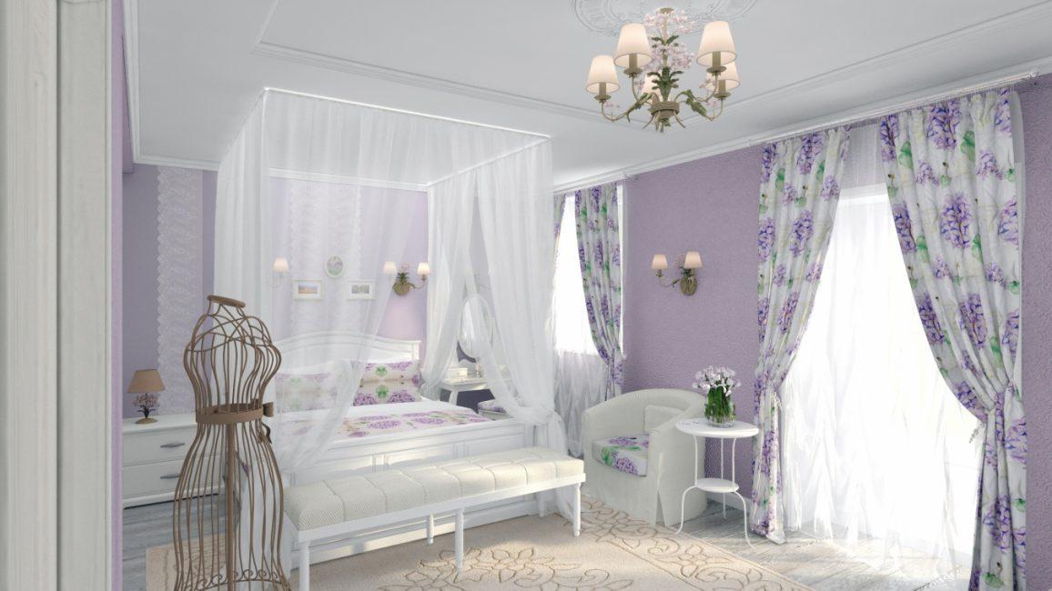 Sejuk ungu dalam gaya Provence
