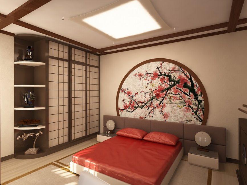 Gaya Oriental di bahagian dalam bilik
