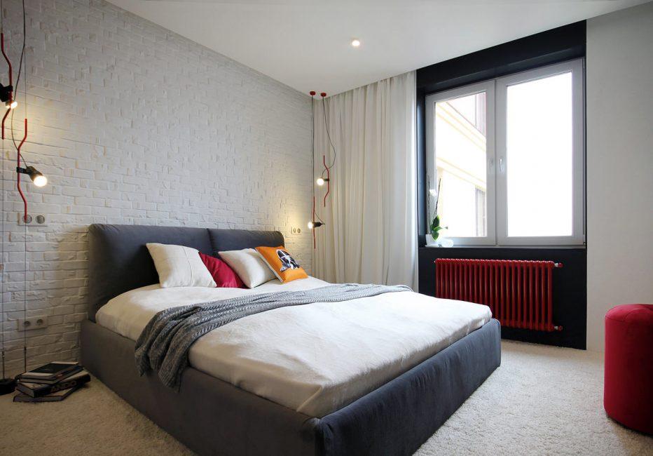 Mentol pijar untuk bilik tidur bergaya Scandinavia
