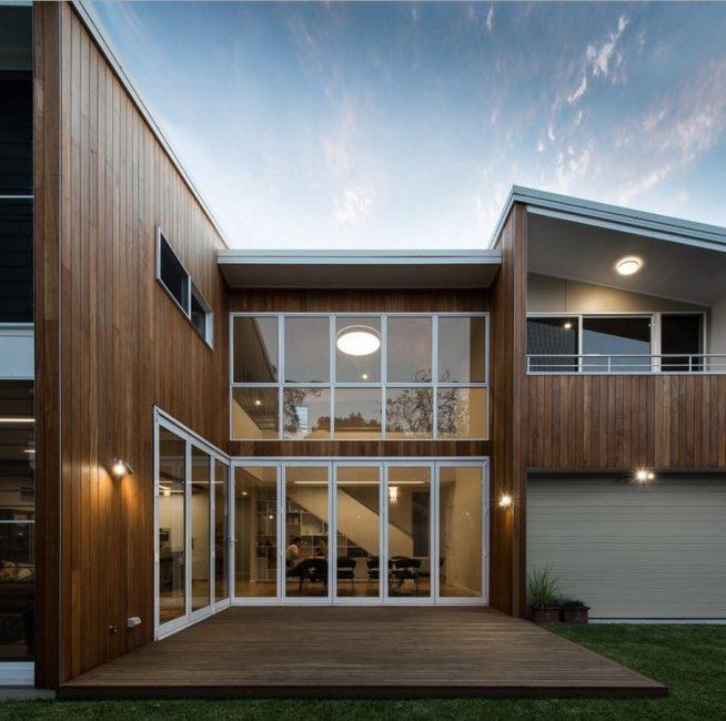 Fasad kayu rumah
