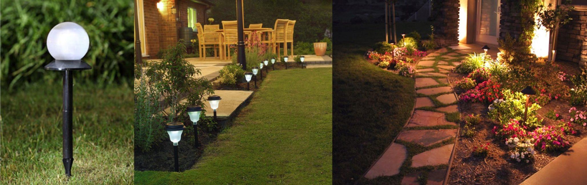 Pilih lampu untuk gaya taman