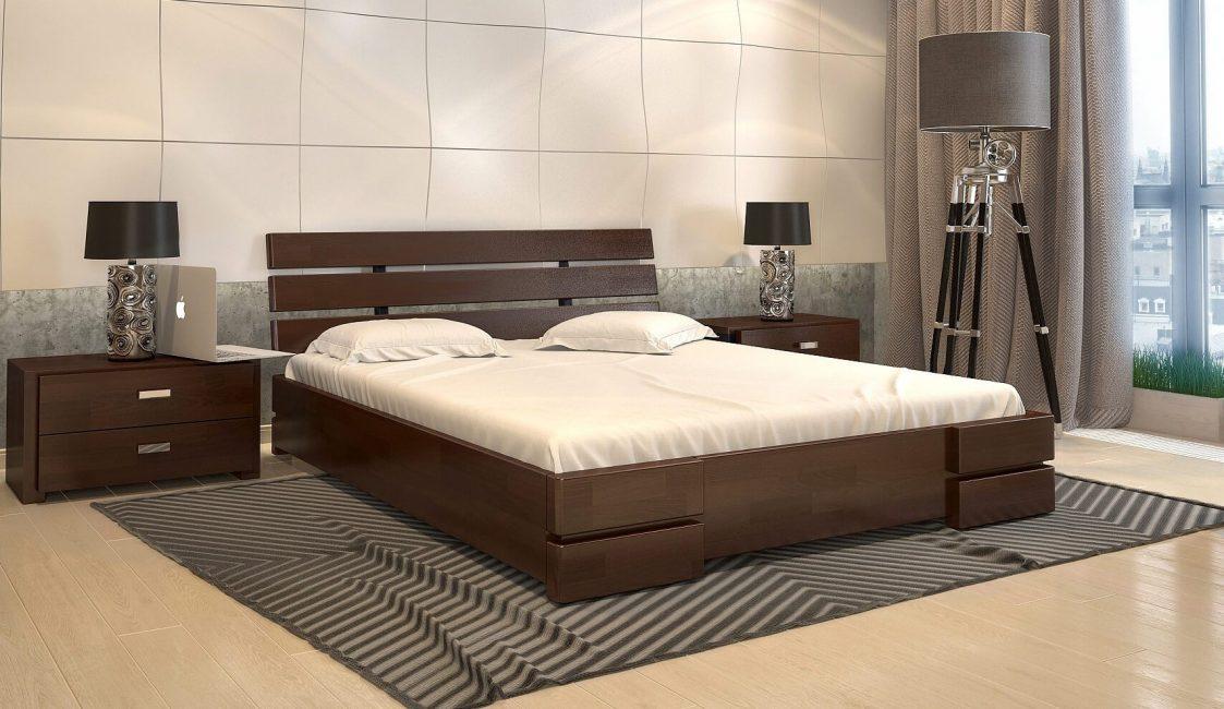 Doğal ahşap yatak dayanıklı ve çevre dostudur.