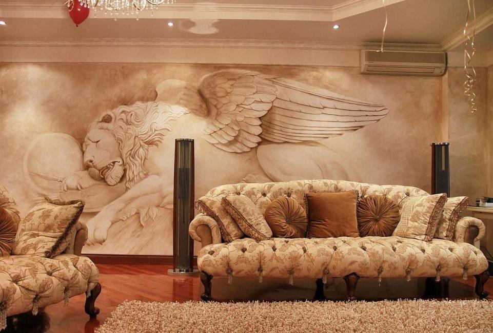 Dinding mural berdasarkan plaster