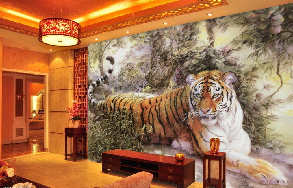 Harimau di dalam ruang tamu