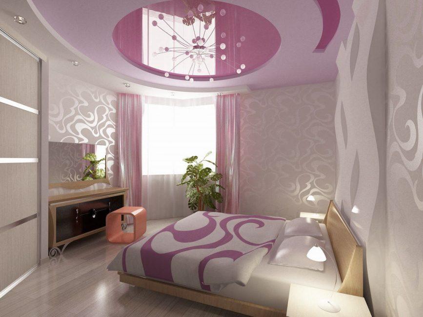 침실에있는 모든 요소의 조화로운 조화