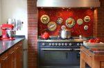 Mosaic di Apron untuk dapur (175+ Foto): Moden, mudah, praktikal. Kaca, ibu mutiara atau logam?