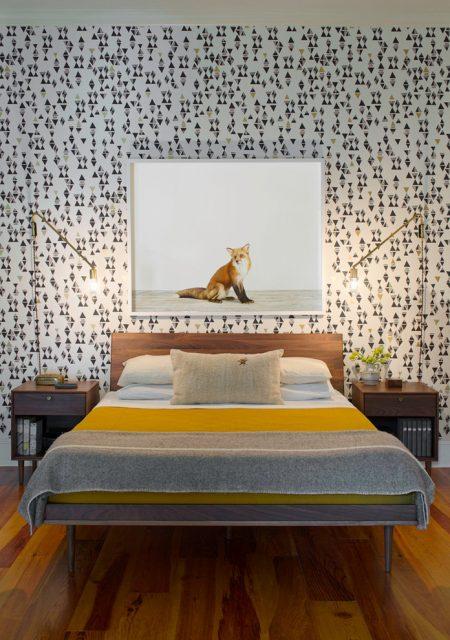 Yatak odasında duvar kağıdı