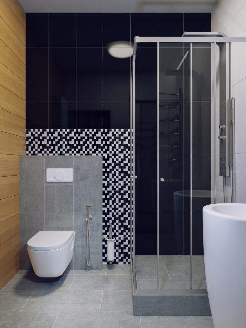 Di sebuah pangsapuri kecil, ia boleh diterima untuk menggabungkan bilik mandi dan bilik mandi