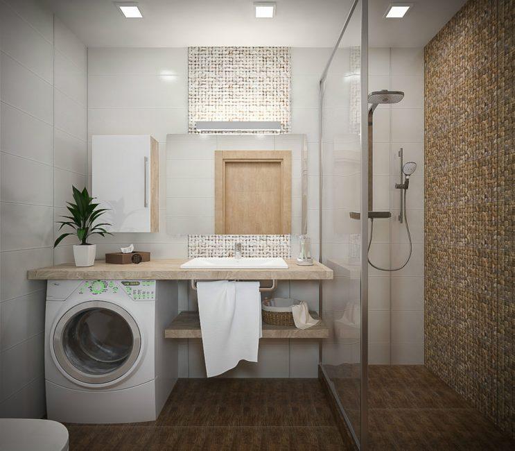 Jika anda memasang kabin mandi, akan ada tempat pemasangan peralatan