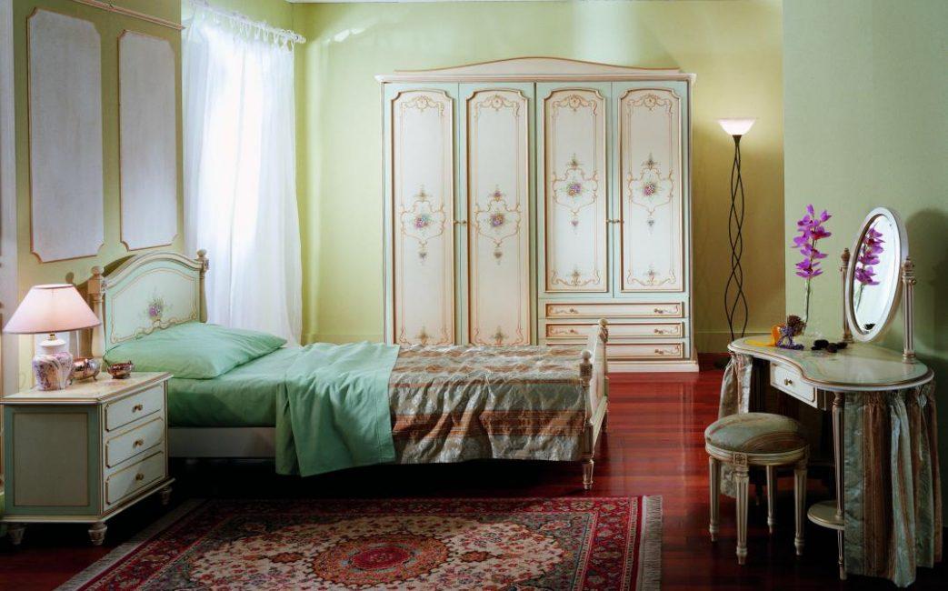 La combinazione di colori di tutti i mobili