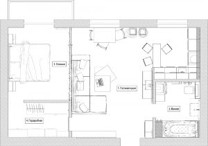 Layout of the 2nd (two-room) Apartments: 215+ Photos of the improved Design ways of reincarnation