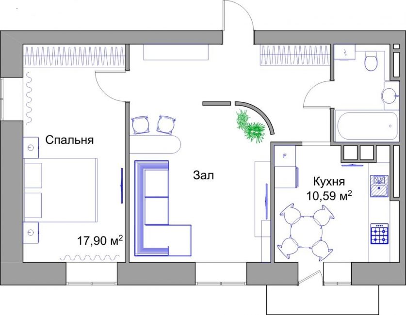 Interesting apartment layout