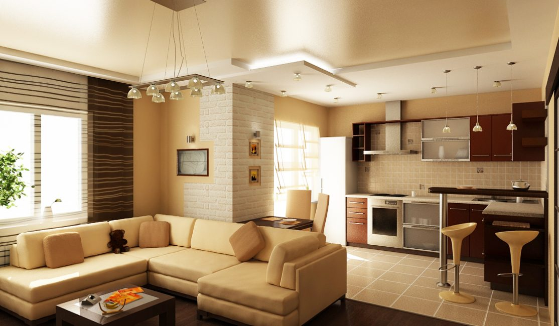 Comfortable living-kitchen
