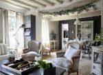 현대적인 인테리어의 프로방스 스타일 : 프랑스의 낭만 주의자 및 전문가를위한 아름다운 디자인 사진 (복도 / 거실 / 주방)
