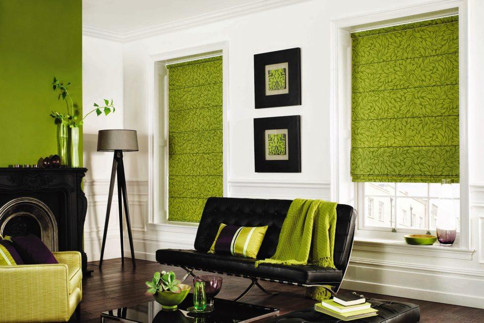 Yeşil, iç mekana doğa hissi verir