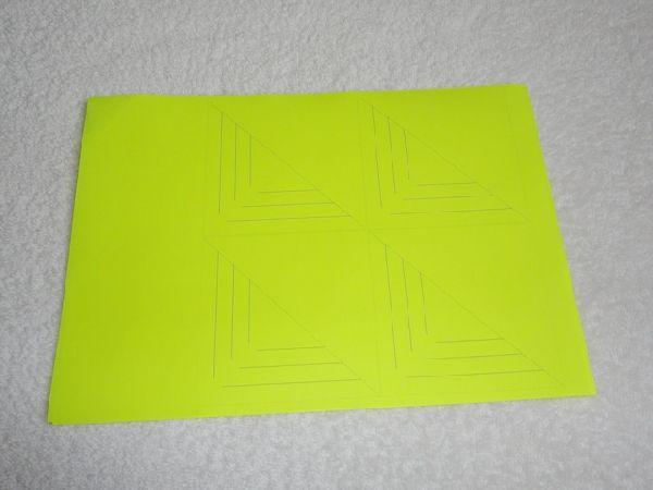 Couper six carrés