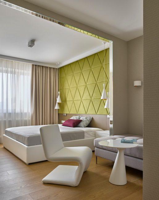 Oda kontrastı için farklı duvar kaplamaları
