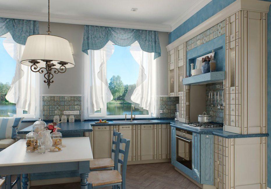Reka bentuk dapur dalam gaya vintaj