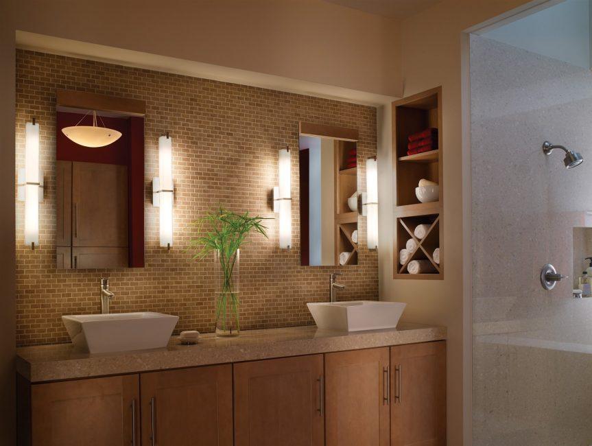 매우 편리한 옵션 - 욕실에 2 개의 세면대