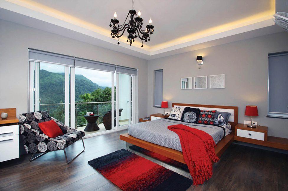 Ένα υπνοδωμάτιο που γίνεται σε τέτοιους τόνους μπορεί να διεγείρει και να καταπραΰνει.