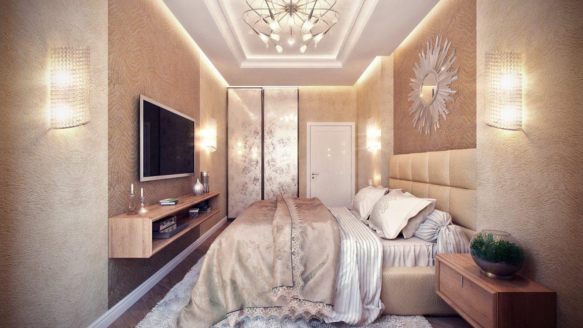 Yatak odasının iç kısmında