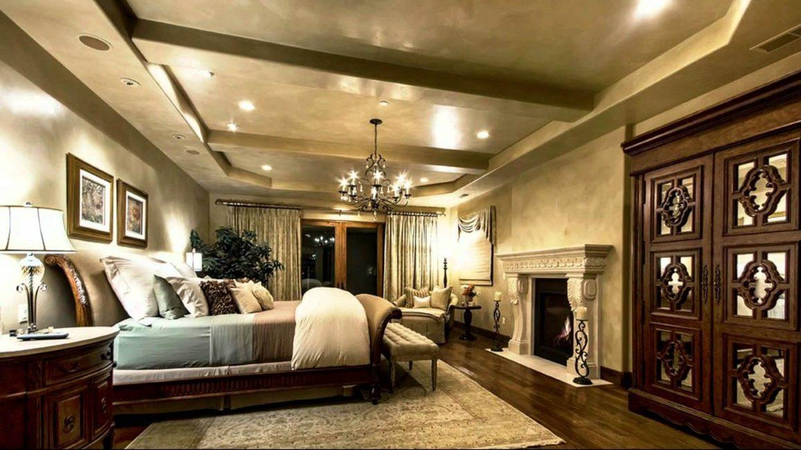 Klasik tarz bir yatak odası için ideal zemin