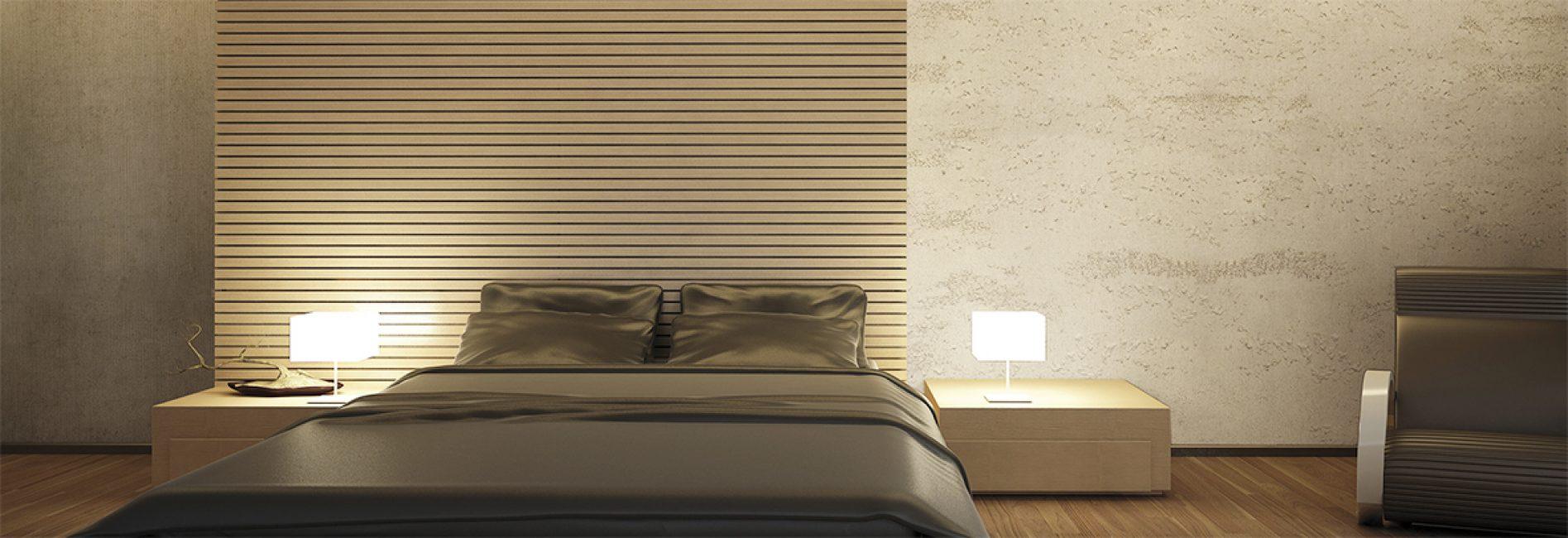 Işık ve göze çarpmayan renkler yatak odası için uygundur.