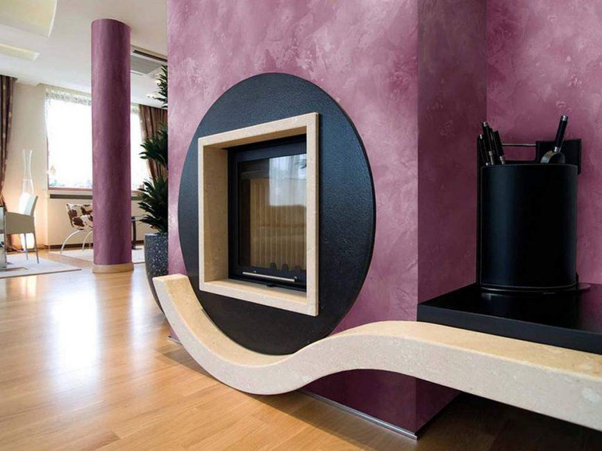 Mor sıradışı oturma odası tasarımı