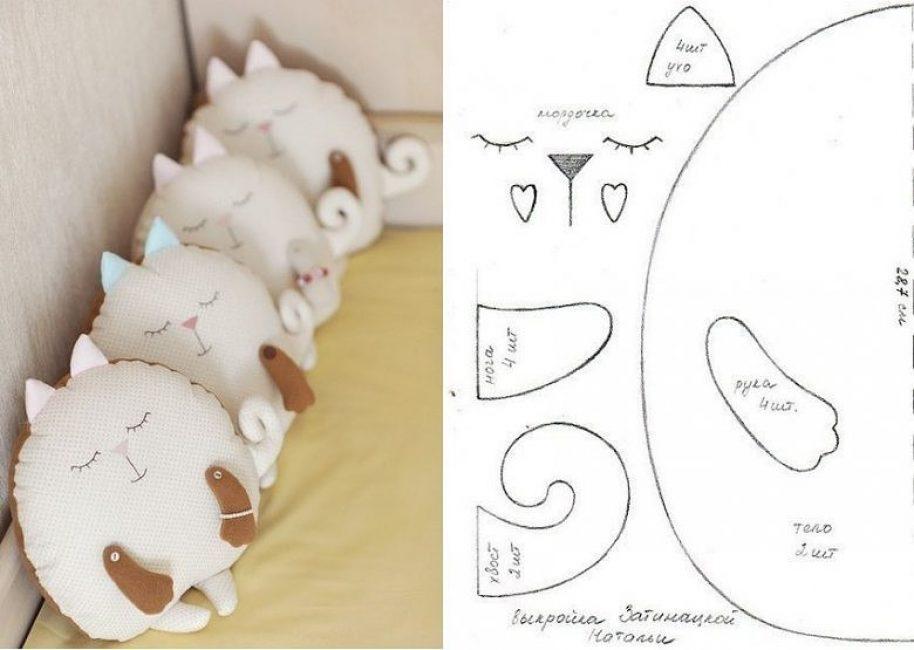 Kedi şeklinde bir ürün için desen