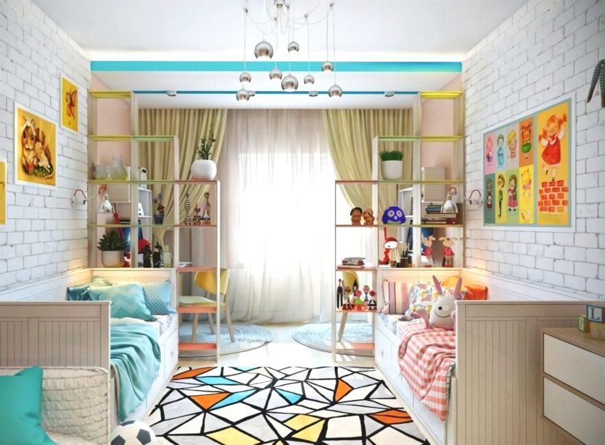 Pikirkan tekstur, warna, corak untuk bilik