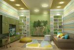 Concevez une chambre d'enfants avec un canapé moelleux: comment et où dois-je le placer?