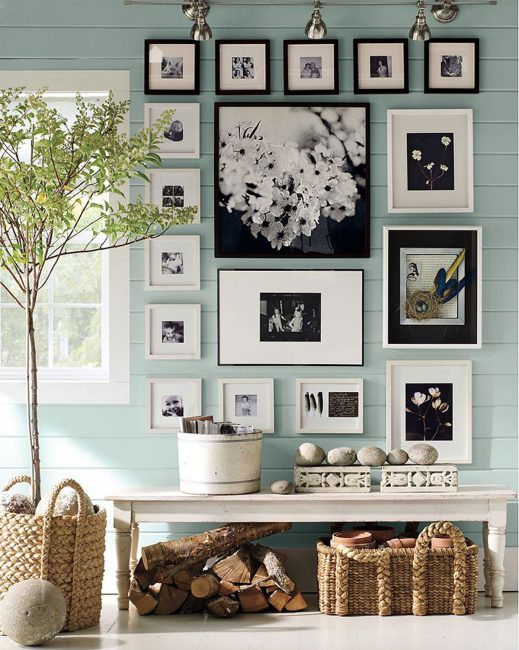 Duvar dekorasyonu için fotoğraf kolajı