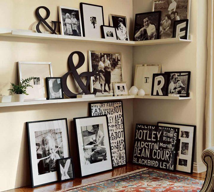 Siyah beyaz fotoğraflar için siyah çerçeveler