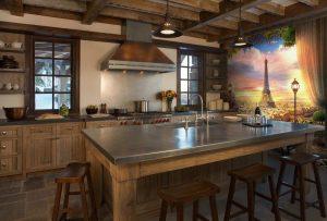 Dapur coklat di pedalaman (120 + Foto) - Gabungan yang berjaya untuk idea Pintar