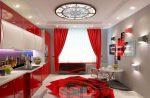 La magia del colore che influisce sulla nostra percezione degli interni: Design di una cucina rossa dai colori vivaci (115+ foto)
