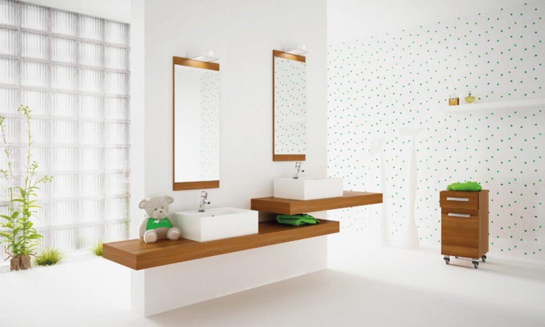 Pilihan untuk bilik mandi yang luas