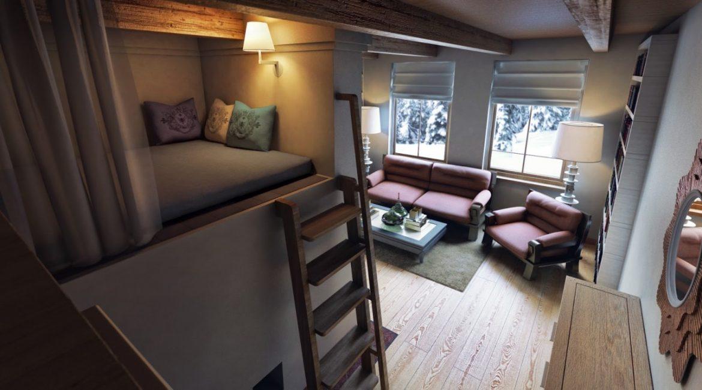 Tempat tidur hangat dan selesa