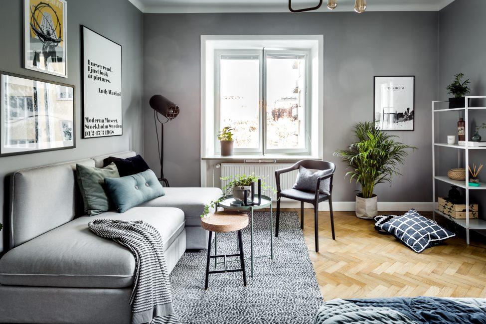 Bahawa ruang lukisan kelihatan moden - ia patut memilih perabot dengan teliti