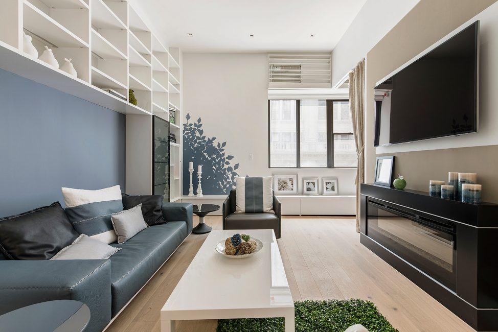 Pilihan reka bentuk ruang tamu yang menarik