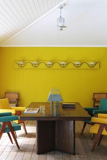 Hiasan bilik makan yang terang