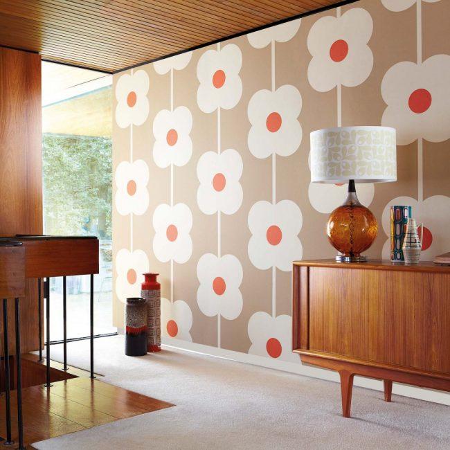 Kertas dinding yang menarik - elemen reka bentuk yang bergaya.