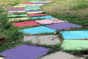 포장 타일로 된 산책로 - 아름다운 안뜰 설계 (120 개 이상의 사진)