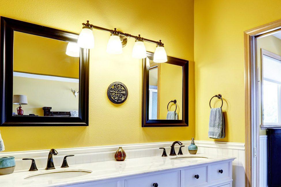 Bu renk banyoyu geniş ve ferah hale getirecektir.