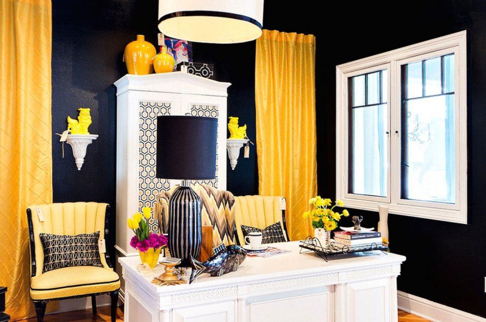 Siyah ve sarı kombinasyonu