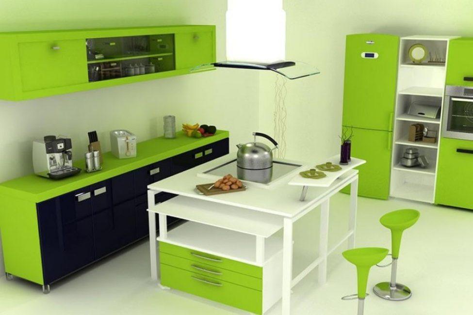 Διακοσμημένες φωτεινές ενδείξεις είναι απαραίτητες σε ένα μαύρο-πράσινο εσωτερικό.