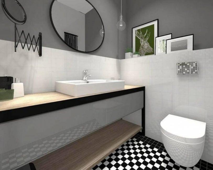 Akan membantu meningkatkan saiz bilik mandi secara visual