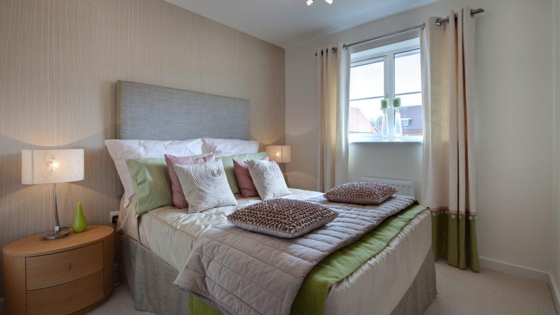 Yatak odasında dokulu ürün