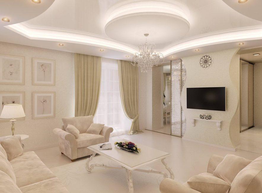 Aydınlık, rahat oturma odası