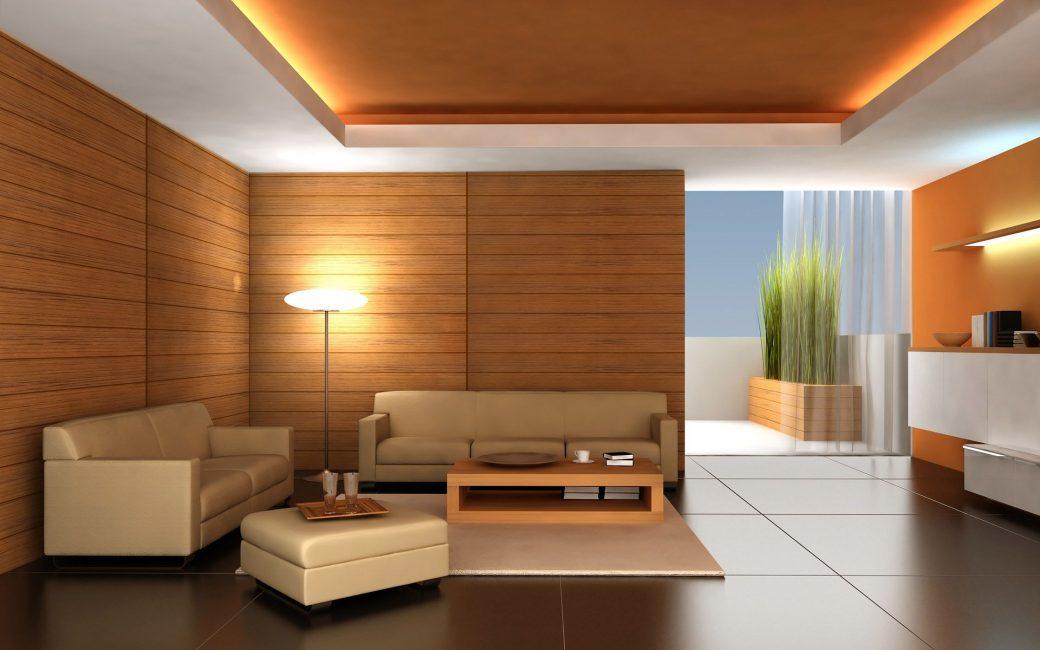 Gaya minimalis dibuat dalam kayu